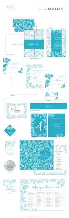 Hello! Prints Blog | Kolekcja papeterii ślubnej Blossom / Blossom invitation suite | http://www.helloprints.com.pl/blog