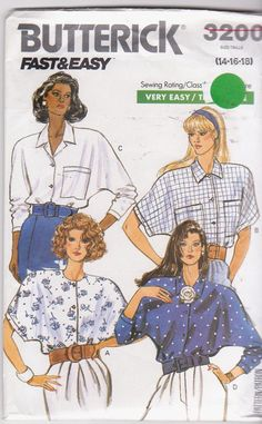 1980s vintage easy sewing pattern for very by beththebooklady, $7.99