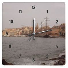Gaeta View Wall Clock by elena_indolfi