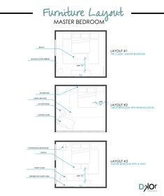 Bedroom layout ideas furniture placement - Bedroom Design - Master Bedroom Layout - How to arrange bedroom furniture #BedroomDesign