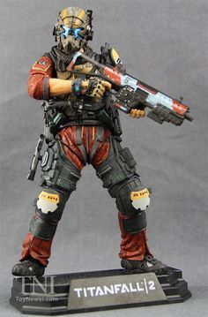 "McFarlane Toys Color Tops 7"" Titanfall 2 Pilot Jack Cooper Figure Video Review & Images"