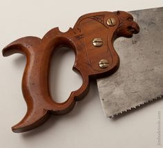 The Finest Panther Saw Handle We Have Ever Seen! by WOODROUGH & MCPARLIN CINCINNATI with 18 inch Blade