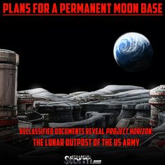 #ProjectHorizon #MoonBase #UFO #Disclosure #DeClassified Plans for a Permanent Moon Base | Declassified Documents Reveal Project Horizon: The Lunar Outpost of the US Army - 6/2/2016 #SITS #StillnessintheStorm Long Link: http://sitsshow.blogspot.com/2016/06/Plans-for-a-Permanent-Moon-Base-Declassified-Documents-Reveal-Project-Horizon-The-Lunar-Outpost-of-the-US-Army.html