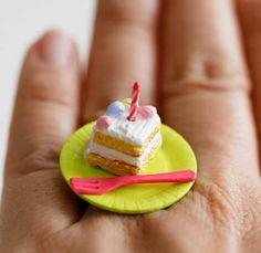 Kawaii Cute Japanese Miniature Food Ring  by fingerfooddelight, $10.00