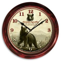 American Expedition Signature Series Clock - Black Bear