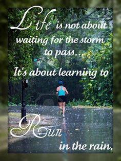 Running in the Rain!