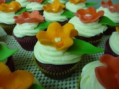 Hawaiian Red Velvet Cupcakes by @Marisa Russo