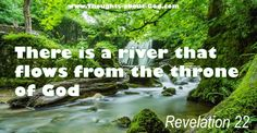 "Devotional: A RIVER THAT FLOWS FROM THE THRONE OF GOD. And, nourished by the river of life, the fruit we produce is ""love, joy, peace, patience, kindness, goodness, faithfulness, gentleness and self-control."" Galatians 5:22-23a. Continue reading..."