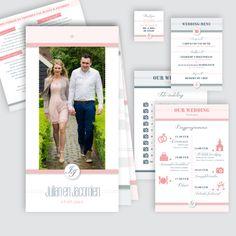 Trouwkaart Julian en Jacomien, ontworpen door Ontwerp Studio Rotier