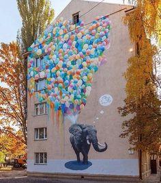 Kiev: nuovo pezzo dello street artist ucraino Sasha Korban.