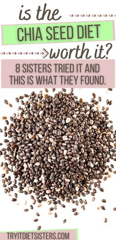 8 Sisters tried Chia Seeds to lose weight - is it worth it? The healthy and omega rich super foods should be a part of every diet! try out these great recipes now to lose weight fast. I want to show you how to use chia seeds for weight loss. I love these fat burning recipes for weight loss using chia seeds. These chia seed drink recipes include lemon and yogurt for diet results. See more at tryitdietsisters.com. Diet Plans To Lose Weight Fast, Lose Weight At Home, How To Lose Weight Fast, Chia Seed Diet, Chia Seeds, Chia Seed Breakfast, Chia Gel, Super Foods, Fat Burning Foods