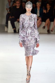 """Alexander McQueen: Spring 2012 Ready to Wear -- Sarah Burton says """"It's all about Gaia, the wonder of nature, the sea."""" -- Vogue"""