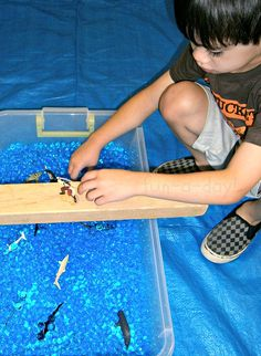 10 Ideas for Pirate Small World and Sensory Play {fun-a-day.com}