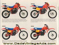 1984 Vintage Honda Dirt Motorcycle Brochure – Quick and Dirty