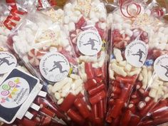 Party Co, Party Bags, Party Favors, Sweet Cones, Chocolate Bouquet, Gift Cake, Collaboration, Red And White, Sweet Treats