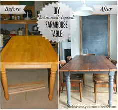 Maple Leaves & Sycamore Trees: DIY Barnwood Table