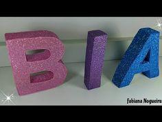 Letras 3 D Feita com Papelão 💗💜💙