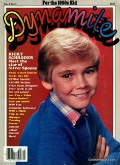 Meet Ricky Schroder, Silver Spoons' shining star He's only thirteen years old, but Ricky Schroder has already made it to the top in modeling, movies, and My Childhood Memories, Great Memories, Ricky Schroder, 1980s Kids, Nostalgia, Magazines For Kids, Vintage Magazines, Vintage Toys, Remember The Time
