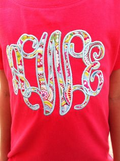 Hey, I found this really awesome Etsy listing at https://www.etsy.com/listing/203611863/vine-applique-initial-shirt