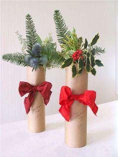 Holiday Wine Bottle Bouquets