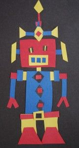 3rd-5th grade CCSS aligned art project - quadrilateral robot!