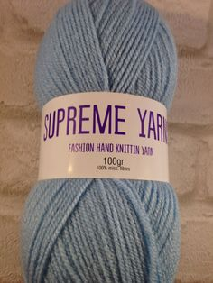 Supreme Yarns light blue colour 100 gram ball by Bitsandbobstopia Cheap Yarn, Light Blue Color, Double Knitting, Yarns, Supreme, Knitted Hats, Winter Hats, Colour, Fashion