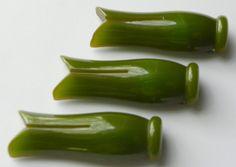 Bakelite 3 Clothespin Clip Pin Green Vintage | eBay