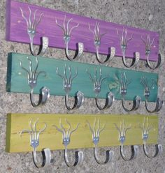 Fork hooks ... you wouldn't want to really hang anything on them or you couldn't see the pretty fork patterns :)