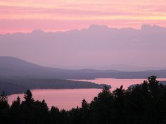 Sunset - Moosehead Lake - Maine. This is where I would start. There is so much beauty here when I was there.