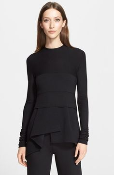 Donna Karan New York Paneled Jersey Peplum Top available at #Nordstrom
