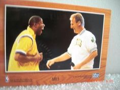 Magic Johnson and Larry Bird Dual Autographed Hoops Card | crazycollectors.com