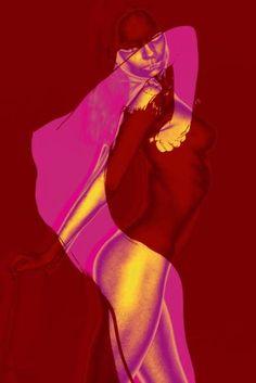 "Saatchi Art Artist Misha Dontsov; Photography, ""Neon Nude Monotype"" #art"