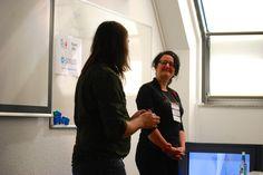 Wibke bei ihrer Session mit Ilias Ntais aka @enchoris beim stARTcamp Köln 2014