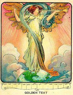 old Sunday school card