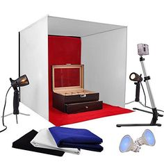 AW-Photo-Studio-24-Photography-Light-Tent-60cm-Cube-Lighting-In-A-Box-Kit-w-Backdrop-Stand