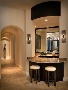 Great black accent and the arches are carried throughout