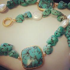 Bijoux turchese e perle