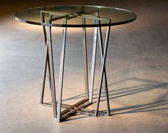 Sleek Modern Iron Dining Tables by Charleston Forge