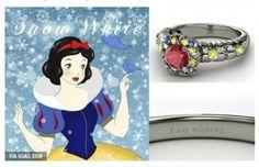 Un amore da favola: gli anelli di fidanzamento ispirati alle principesse #Disney | #Biancaneve