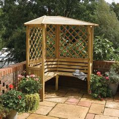 corner arbour add some pillows and you have a nice relaxing reading spot