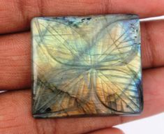 Labradorite Hand Carving Gemstone 53.9 CTS Wholesale Gemstone Cabochon Natural Gemstone for Wirewrapping DIY Ring Pendants Jewelry Supplies http://etsy.me/2C4B9DG #supplies #blue #birthday #christmas #cushion #beading #semipreciousgems #labradorite #labradoritestone