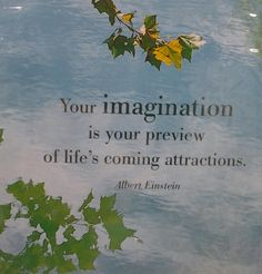 Your imagination is your preview of life's coming attractions.  Albert Einstein quote