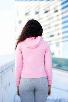 Pink Majuscule hoodie from Famme Custom Made, Turtle Neck, Hoodies, Sweaters, Pink, Cotton, Fashion, Moda, Sweatshirts
