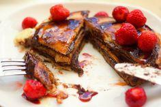 Lívance plněné kakaovým oříškovým máslem – Jezte sláskou