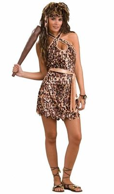 Cave Beauty Cave Woman Tarzan Jane Leopard Dress Up Halloween Sexy Adult Costume in Clothing, Shoes & Accessories, Costumes, Reenactment, Theater, Costumes | eBay