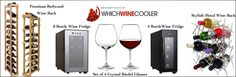 Free wine cooler, wine rack, and crystal wine glasses giveaway