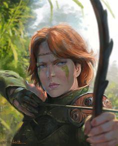 Archer girl , davood diba on ArtStation at https://www.artstation.com/artwork/KvZYR