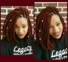 Red yarn locs crochet braids. I AM IN LOVE WITH THIS LOOK!