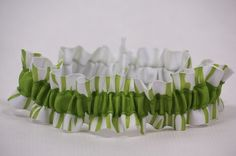 bright green grosgrain stripe wedding garter