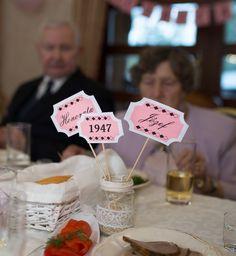 70 rocznica ślubu dekoracja stołu - 70th wedding anniversary decoration